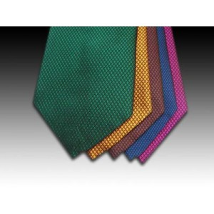 Plain Block Coloured Woven Silk Tie