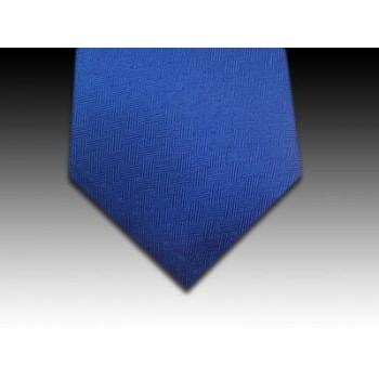 Plain Basket Weave Woven Silk Tie in Royal Blue