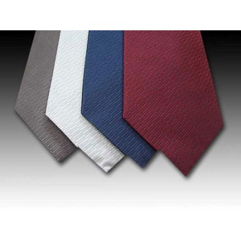 Plain Coloured Woven Silk Tie (A)