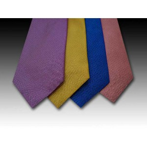 Plain Coloured Woven Silk Tie (B)
