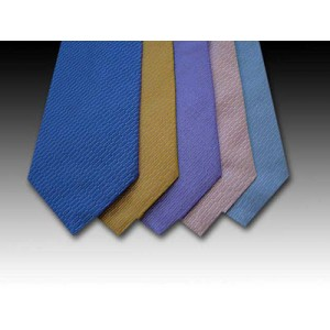Plain Coloured Woven Silk Tie (C)
