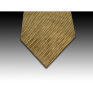 Plain Gold Coloured Woven Silk Tie