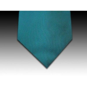 Small Pinpoint Weave Woven Silk Tie in Turquoise