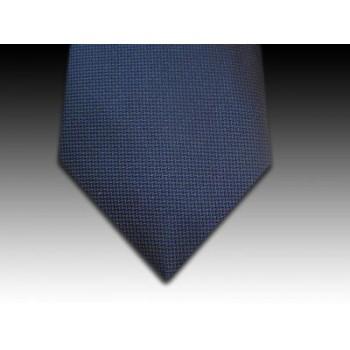 Plain Navy Woven Silk Tie