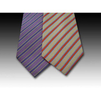 Classic Striped Woven Silk Tie