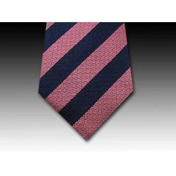 Wide Stripe in Woven Silk Tie