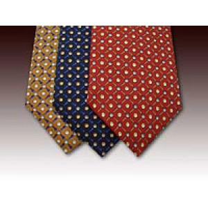 Golf Ball and Tee design printed silk tie