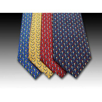 Shaving Brush design printed silk tie