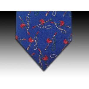 Racing Caps and Crops design printed silk tie
