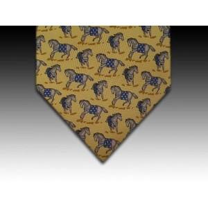 Circus horse design printed silk tie