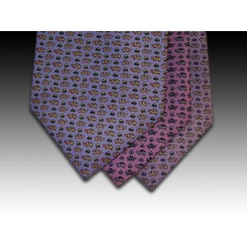 Tortoise design printed silk tie