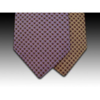Butterfly Moth design printed silk tie