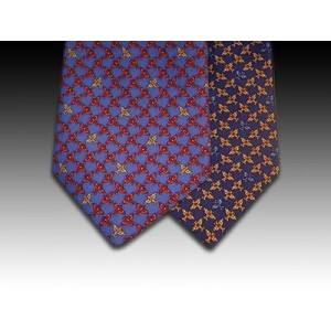 Aeroplane design printed silk tie