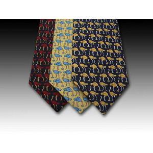 Ostrich design printed silk tie