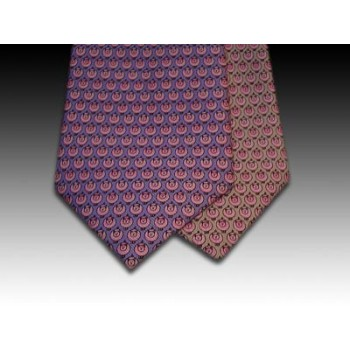 Pig design printed silk tie