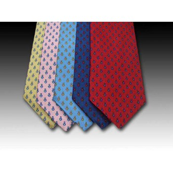 Nautical knot design tie, classic pattern