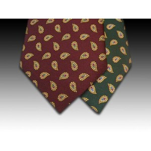 Small Paisley motif on Printed Silk Tie