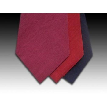 Plain Pure Italian Silk Tie in Wine, Red or Navy