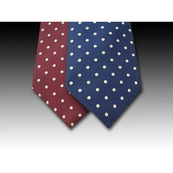 Classic Small Spot design printed silk tie