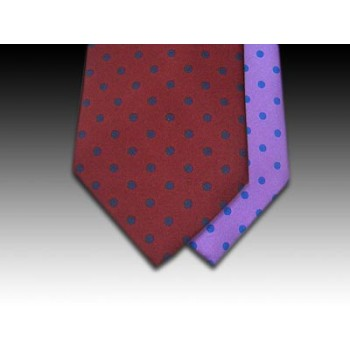 Classic Medium Spot design printed silk tie