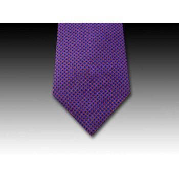 Red Pin Head Spot design printed silk tie