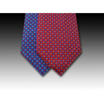 Spotted Design Printed Silk Tie