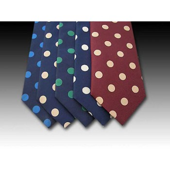 Large Spot Design Printed Silk Tie