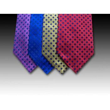 Shimmering Woven Silk Tie with Plain Diamond Motif