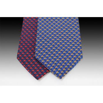 Flamingo design printed silk tie